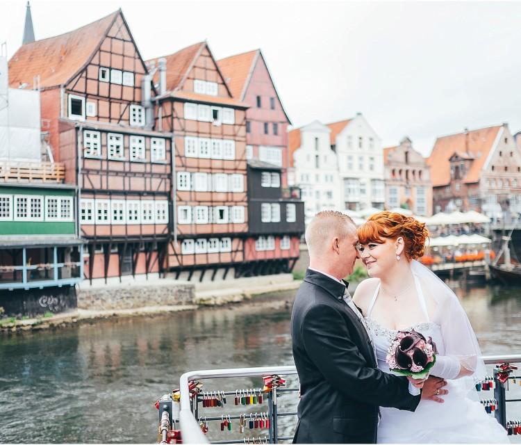 Hochzeitsfotos Lüneburg am Stintmarkt